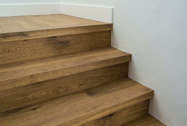 Custom Square Nose Stair Treads Cooper Floors